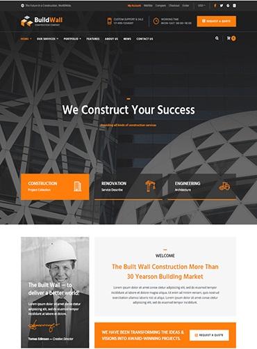 Mẫu web giới thiệu công ty xây dựng PNXD3 1