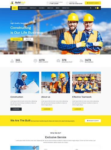 Mẫu web giới thiệu công ty xây dựng PNXD1 2
