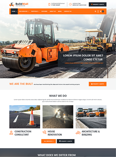 Mẫu web giới thiệu công ty xây dựng PNXD2 2