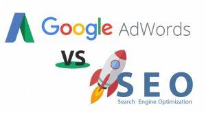 So sánh Seo và quảng cáo Google Adwords 1